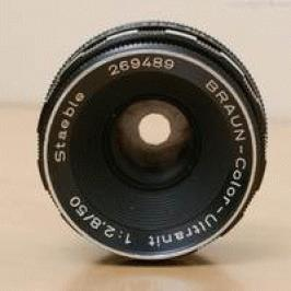 Braun color ultranit 50mm f2.8 Staeble made in W-Germany