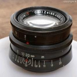 Carl Zeiss Biotar T 5.8cm f2 black-paint-body and silver-body